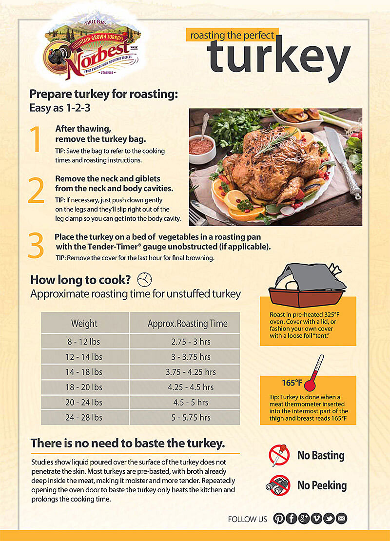 Illustration of how to roast a turkey