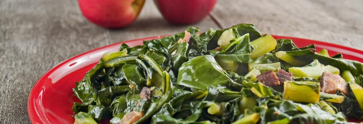 Southern collard greens for luck