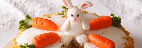 Image of a beautiful, decorated Easter carrot cake
